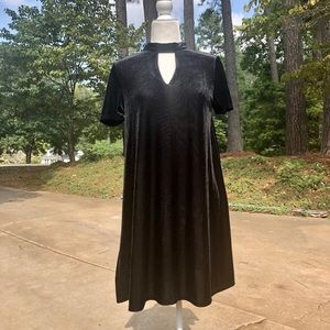 She & Sky Velvet Black Dress